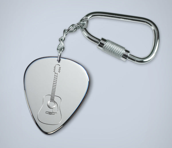 Acoustic Guitar Key Ring - chain