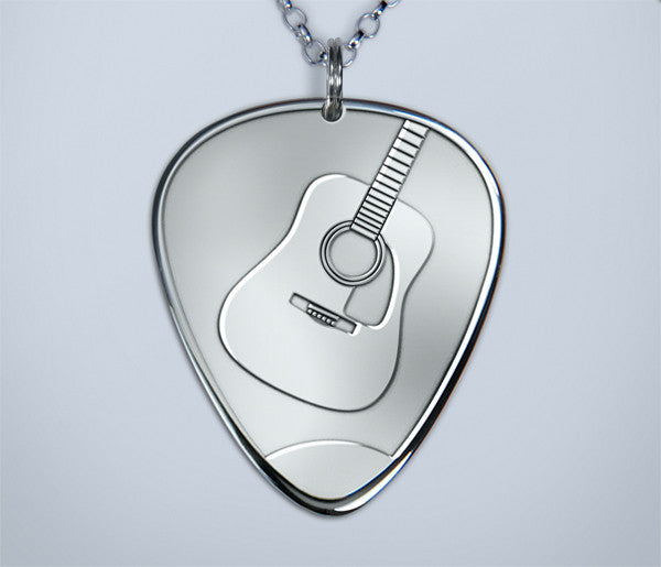 Acoustic Silver Pick Pendant (New)