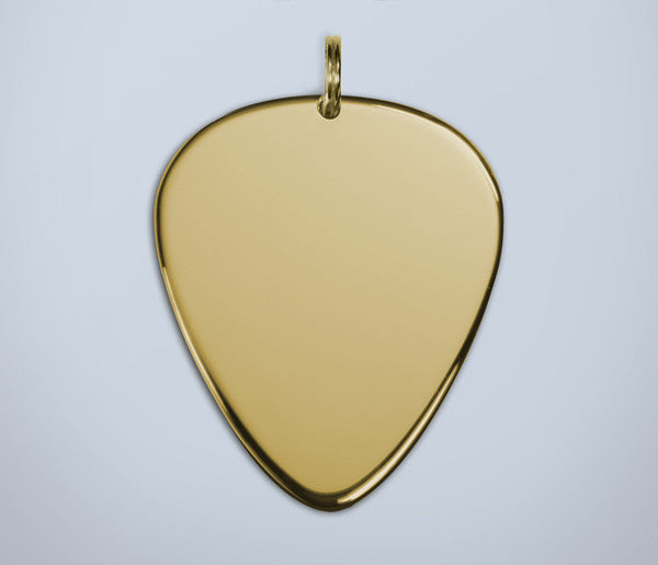 Gold Guitar Pick Pendant