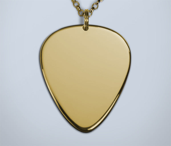 Gold guitar pick pendant silver picks gold guitar pick pendant aloadofball Image collections