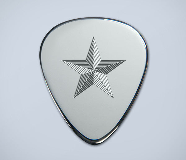 Engraved Star Silver Plectrum