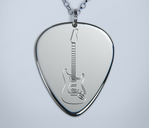Engraved Stratocaster Pendant
