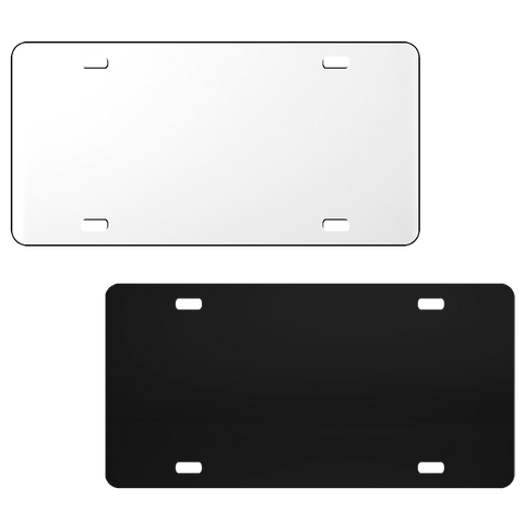 Acrylic License Plate Blanks - Solid Color