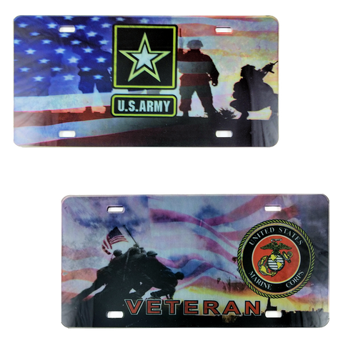 Military Photo License Plates