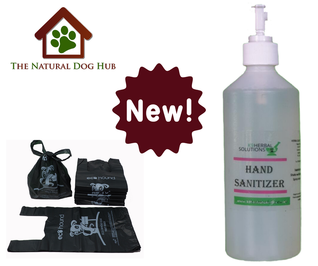 Hand Sanitiser & Biodegradable Poo bags now available