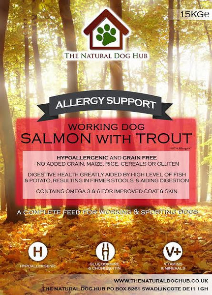 ALLERGY SUPPORT- best Complete Food- 15Kg-Grain Free-dog Food-allergy-itching-fish dog food-delal-bulk buy-natural