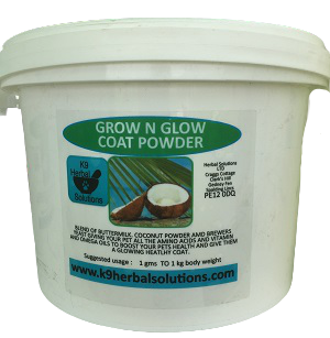 grow n glow coat powder-boost health-glowing coat-brewers yeast-coconut powder-buttermilk powder-for dogs