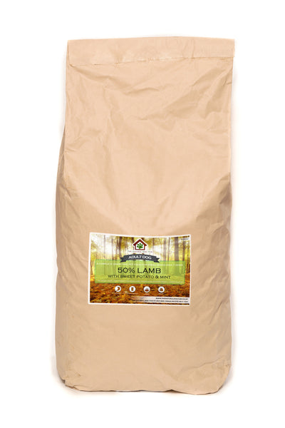 natural-Grain Free-SMALL BREED-freshly prepared-lamb, Sweet Potato & mint-Complete-dog-Food
