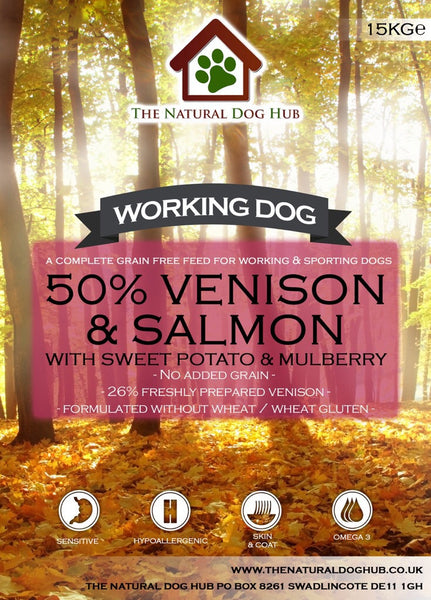 Grain Free-ADULT Venison, Sweet Potato & Mulberry-Complete Food 15kg-Grain Free Complete Food-natural-dog food-deal-bulk buy