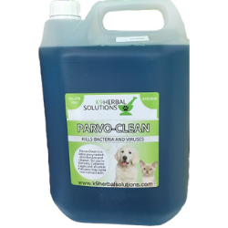 Parvo Clean- 5L-Hygiene-disinfectant-kennel-yard-door handles-floors-beds-cleaner-kils virus-bacteria