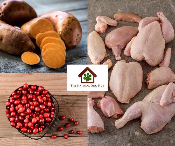 natural-grain free-freshly prepared-turkey-sweet potato-cranberry-15kg-large breed-dog food