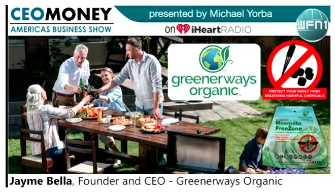 Greenerways CEO Jayme Bella Featured on WFN1's CEO Money!