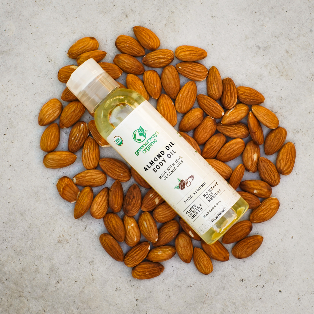 Greenerways Organic Pure Almond Body Oil (4oz)