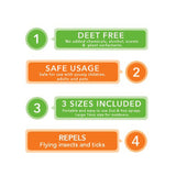 Greenerways Organic - 4 Pack Insect Repellent - Family Set