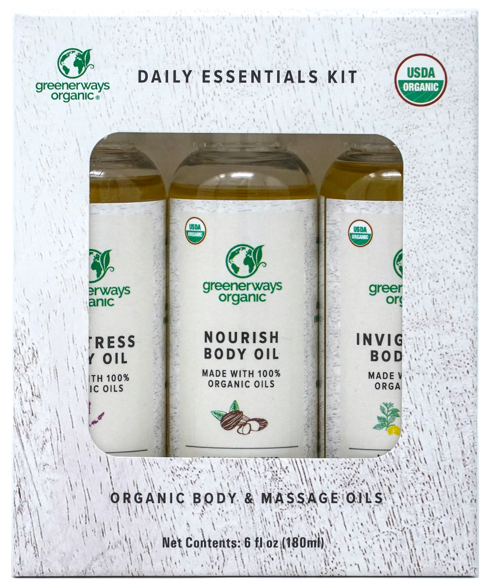 Greenerways Organic Daily Essentials Body Oil 3 Pack (2oz)