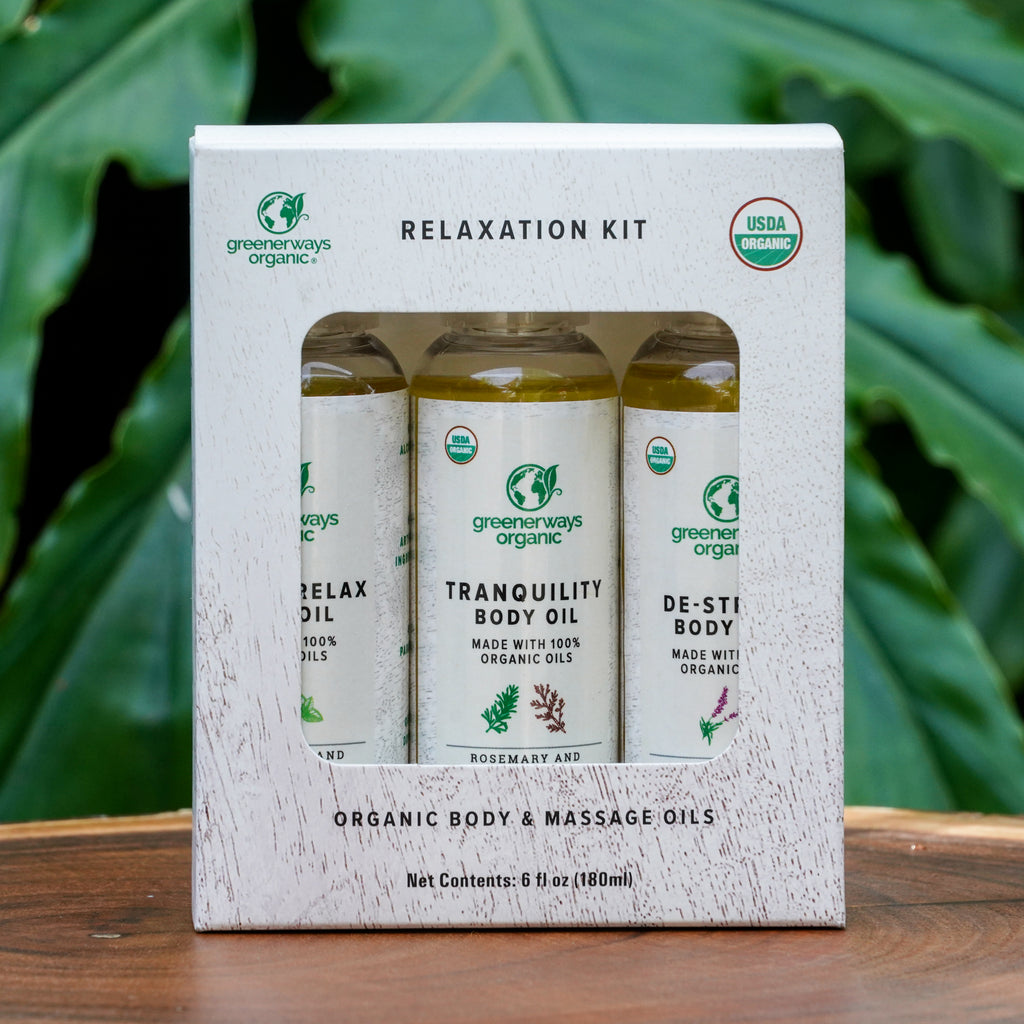 Greenerways Organic Relaxation Body Oil 3 Pack (2oz)