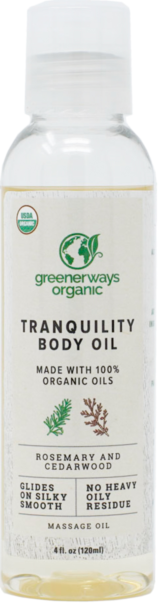 Greenerways Organic Tranquility Body Oil (4oz)