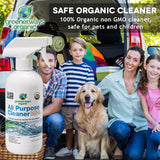 Greenerways Organic All-Purpose Cleaner, Natural, USDA Organic, Non-GMO, Best Household Multi Surface Spray Cleaner for Home, Glass, Kitchen, Bathroom, Shower, Window, Streak Free, Child Safe - 16oz