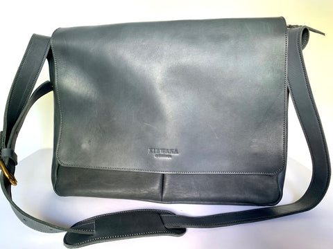 Kibwana All Leather Messenger Bag