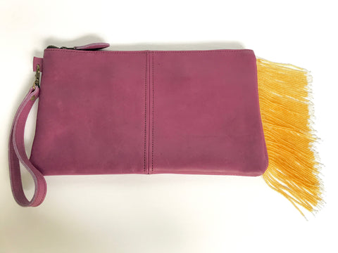 Purple and Gold Clutch