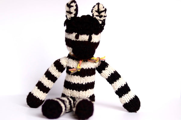 Wool Elephant and Zebra Rafiki