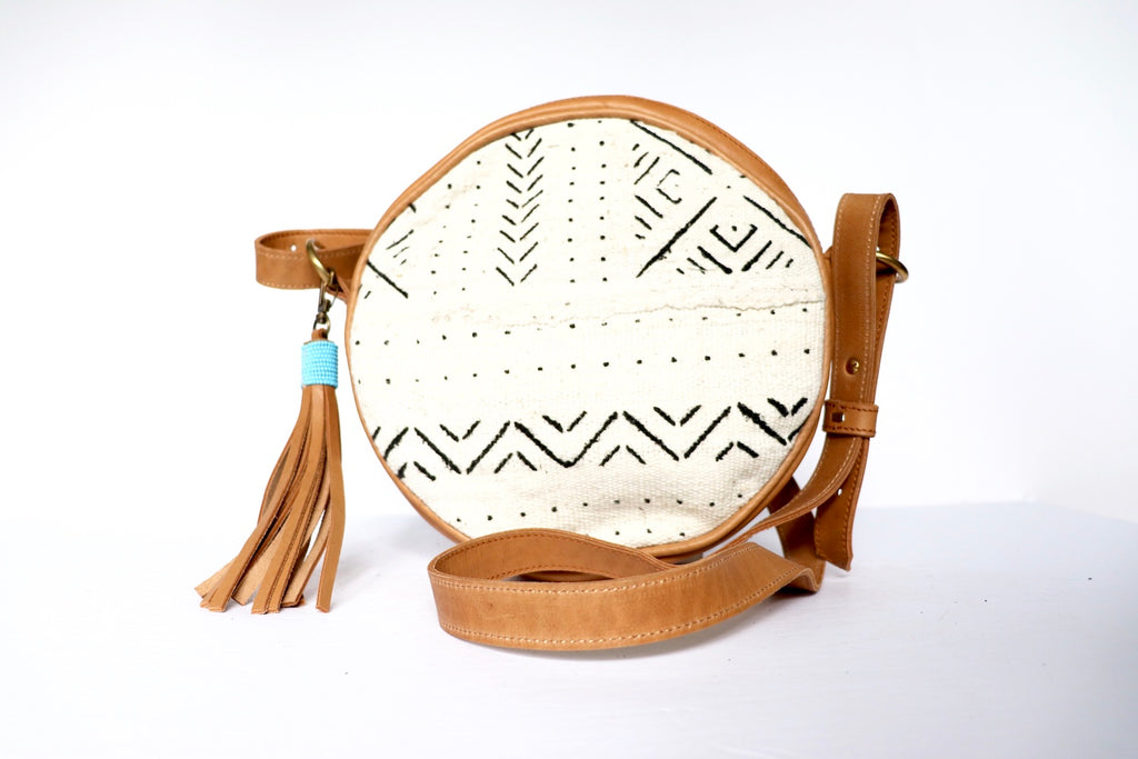 Round White Mud Cloth