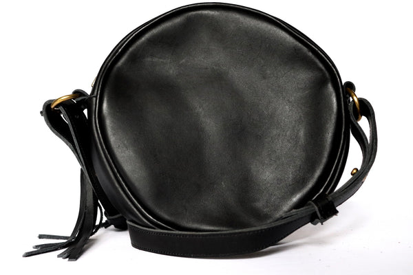 Round Black Mud Cloth