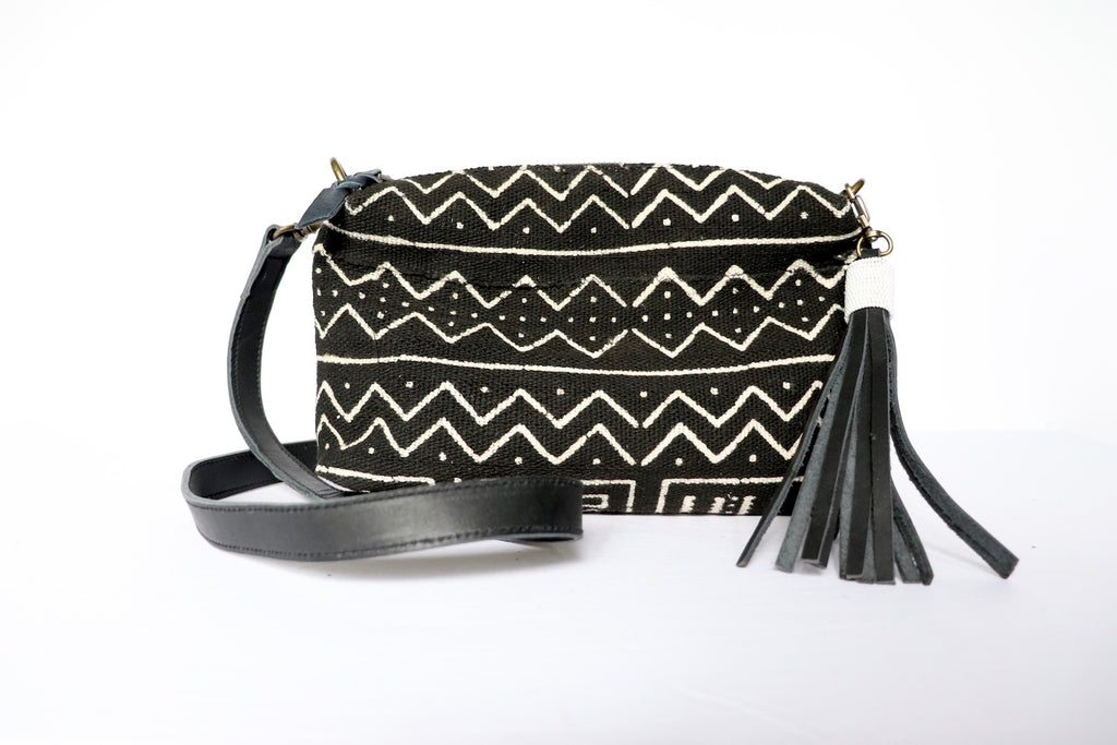 Crossbody Black Mud Cloth