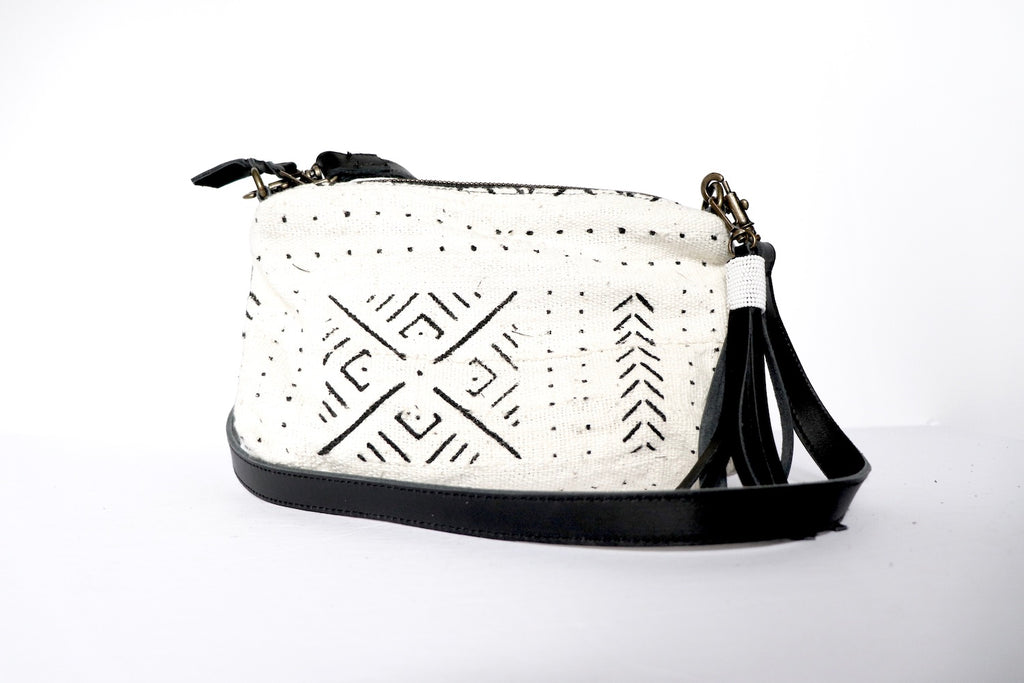 Crossbody White Mud Cloth