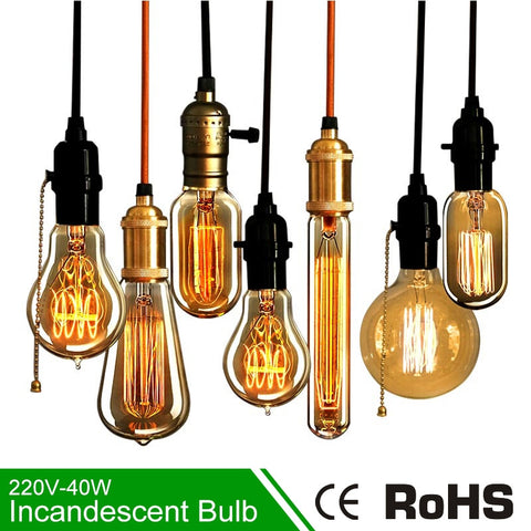 Retro Vintage Edison Light Bulbs