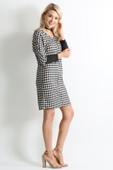 Load image into Gallery viewer, black tan plaid / black sleeve