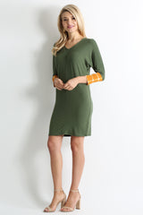 Load image into Gallery viewer, olive / mustard plaid sleeve