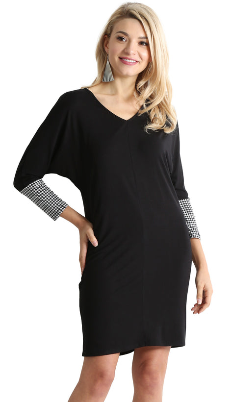 Daringly Dolman Contrast Dress