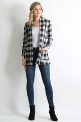 Load image into Gallery viewer, black - heather grey plaid