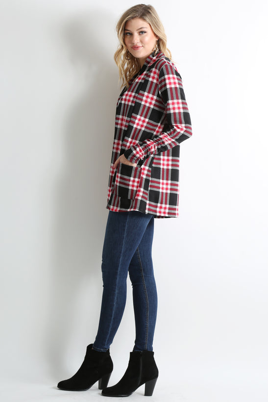 black - red plaid