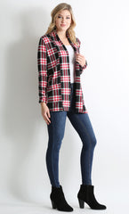 Load image into Gallery viewer, black - red plaid