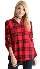 Load image into Gallery viewer, red black plaid
