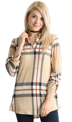 Load image into Gallery viewer, khaki plaid