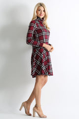 Load image into Gallery viewer, burgundy - ivory plaid