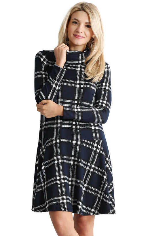 navy - black plaid