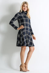 Load image into Gallery viewer, navy - black plaid