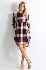 Load image into Gallery viewer, burgundy plaid