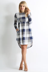 Load image into Gallery viewer, navy plaid