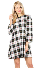 Load image into Gallery viewer, black ivory plaid
