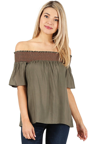 Totally Smocked Off-Shoulder Top