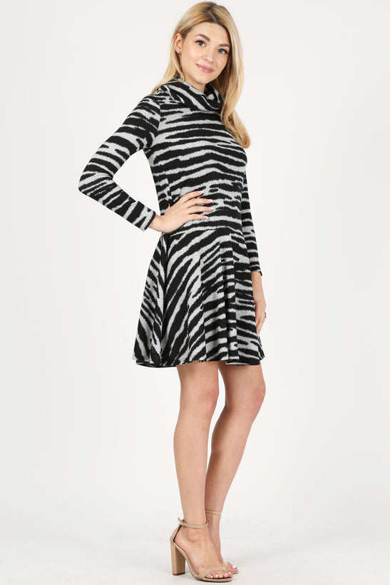 black - heather grey zebra