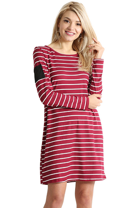 Stripe Sleeve Pocket Dress