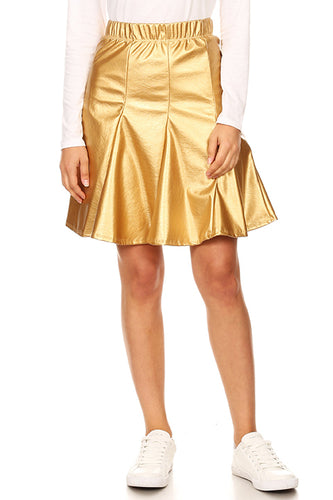 Move With Metallic Flounce Skirt