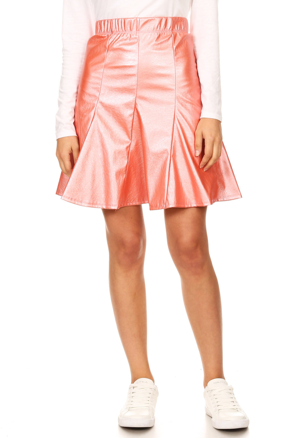 METALLIC FLOUNCE SKIRT