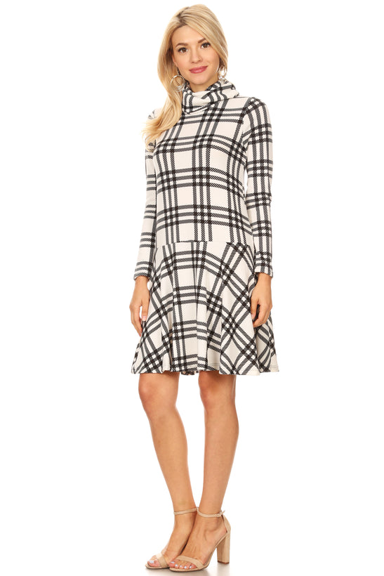 ivory - black plaid